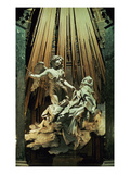 Ecstasy of St.Theresa (Marble) Giclée-tryk af Bernini, Giovanni Lorenzo