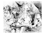 Pilate Washing His Hands, C.1665 (Pen, Ink and Wash on Paper) Giclee Print by  Rembrandt van Rijn