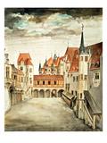 Castle Courtyard, Innsbruck (W/C) Reproduction procédé giclée par Albrecht Dürer