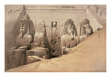 Front Elevation of the Great Temple of Aboo Simbel, Nubia, from 'Egypt and Nubia' Giclee Print by David Roberts