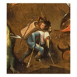 The Last Judgement (Oil on Panel) (Detail of 29115) Giclée-tryk af Hieronymus Bosch