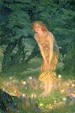 Midsummer Eve Giclee-trykk av Edward Robert Hughes