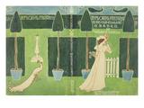 Book Jacket Design for 'A Floral Fantasy in an Old English Garden' by Walter Crane, C.1890S (Litho) Giclée-Druck von Walter Crane