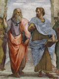 Aristotle and Plato: Detail of School of Athens, 1510-11 (Fresco) (Detail of 472) Giclée-tryk af Raphael,