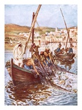 A Great Multitude of Fishes Giclee Print by William Brassey Hole