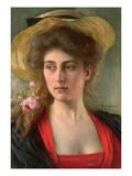Elegante (Oil on Panel) Giclée-tryk af Albert Lynch