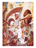 Jesus Healing a Woman in the Crowd While on the Way to the House of Jairus Giclee Print by William Brassey Hole