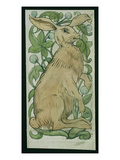 Hare (W/C on Paper) Giclée-tryk af William De Morgan