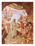 Jesus Commanding Matthew, the Publican, to Follow Him Giclee Print by William Brassey Hole