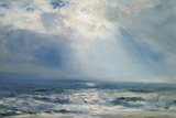 A Sunbeam over the Sea, 1890 (Oil on Panel) Lámina giclée por Henry Moore