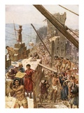 Rebuilding the Wall of Jerusalem under Nehemiah Giclee Print by William Brassey Hole