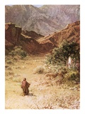Moses and the Burning Bush Giclee Print by William Brassey Hole