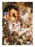 David Bringing Ark into Jerusalem Giclee Print by William Brassey Hole