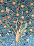 The Woodpecker Tapestry, Detail of the Woodpeckers, 1885 (Tapestry) Giclée-tryk af William Morris