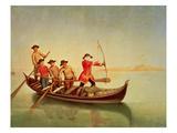The Duck Hunt Giclee-trykk av Pietro Longhi