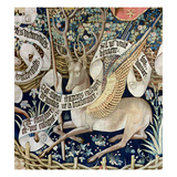 The Winged Deer (Tapestry) (Detail of 95771) Giclée-Druck von  French