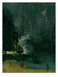 The Falling Rocket, 1875 (Oil on Panel) Reproduction procédé giclée par James Abbott McNeill Whistler