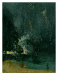 The Falling Rocket, 1875 (Oil on Panel) Giclée-tryk af James Abbott McNeill Whistler