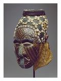 Nagaady-A-Mwaash Mask, Zaire, Kuba Kingdom (Wood, Cowrie Shells and Glass Beads) Reproduction procédé giclée par  African