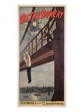 On the Bowery, Steve Brodie's Sensational Leap from Brooklyn Bridge 1886 Giclée-Druck von  American