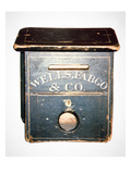 Original Wells Fargo and Co. Letter Box of the Old West, C.1880 (Wood) Giclee Print by  American