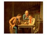 The Checker Players, 1850 Gicléedruk van George Caleb Bingham