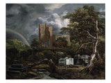 The Jewish Cemetery, c.1654-55 Giclee Print by Jacob Isaaksz. Or Isaacksz. Van Ruisdael