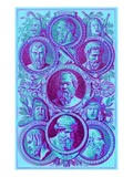 Historians, Philosophers and Dramatists of Ancient Greece Giclee Print by  English