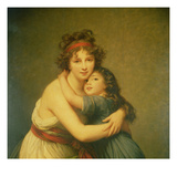 Madame Vigee-Lebrun and Her Daughter, Jeanne-Lucie-Louise (1780-1819) 1789 Reproduction procédé giclée par Elisabeth Louise Vigee-LeBrun