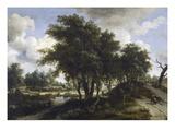 The Cottage, C.1663 (Oil on Oak Panel) Lámina giclée por Meindert Hobbema