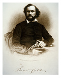 Samuel Colt Holding One of His Percussion Revolvers (Engraving) Giclee Print by  American