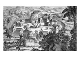 Village of the Susquehanna People, Susquehanna River (Engraving) Giclee Print by  American