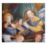 The Concert of Angels, 1534-36 (Fresco) (Detail) (See 175762) Giclée-tryk af Gaudenzio Ferrari