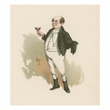 Mr Pickwick, Illustration from 'Character Sketches from Charles Dickens', C.1890 (Colour Litho) Lámina giclée por Joseph Clayton Clarke