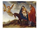 The Flight into Egypt, c.1648/50 Giclée-tryk af Carlo Dolci