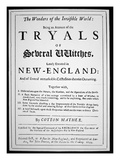 Title-Page of a Witch Hunt Pamphlet by Cotton Mather Published in 1693 (Print) Giclee Print by  American