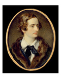 Portrait Miniature of John Keats (W/C on Ivory) (Detail of 67539) Giclée-tryk