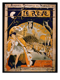 Advertisement for the Musical 'The Dream', at the Academie Nationale De Musique, Engraved by Gillot Giclee Print by  French
