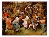 The Wedding Dance, C.1566 (Oil on Panel) Giclée-tryk af Pieter Bruegel the Elder