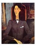 Jean Cocteau, 1917 Giclée-tryk af Amedeo Modigliani