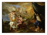 Selene and Endymion, c.1630 Stampa giclée di Nicolas Poussin