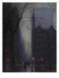 Fifth Avenue at Twilight, c.1910 Gicléedruk van Lowell Birge Harrison