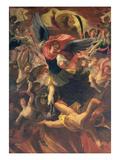 The Archangel Michael Vanquishing the Devil Giclée-Druck von Antonio Maria Viani