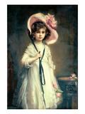 Portrait of Nancy, Daughter of Arthur Tooth Gicléedruk van Mary Lemon Waller