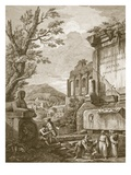 Plate I, from 'Ruins of the Palace of Emperor Diocletian at Spalatro in Dalmatia', Published 1764 Giclee Print by Robert Adam