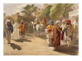Peshawar Market Scene, from 'India Ancient and Modern', 1867 (Colour Litho) Lámina giclée por William 'Crimea' Simpson