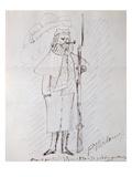 Self Portrait as a Soldier, 1870-71 (Pen and Ink on Paper) Giclée-Druck von Paul Verlaine