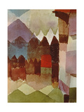 Fohn Wind in Franz Marc's Garden, 1915 Giclee-trykk av Paul Klee