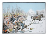 The Potsdam Guard Parade at Leuthen, 5 December 1757 (Colour Litho) Giclee Print by Richard Knoetel