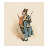 Mr. Bumble, Illustration from 'Character Sketches from Charles Dickens', C.1890 (Colour Litho) Lámina giclée por Joseph Clayton Clarke